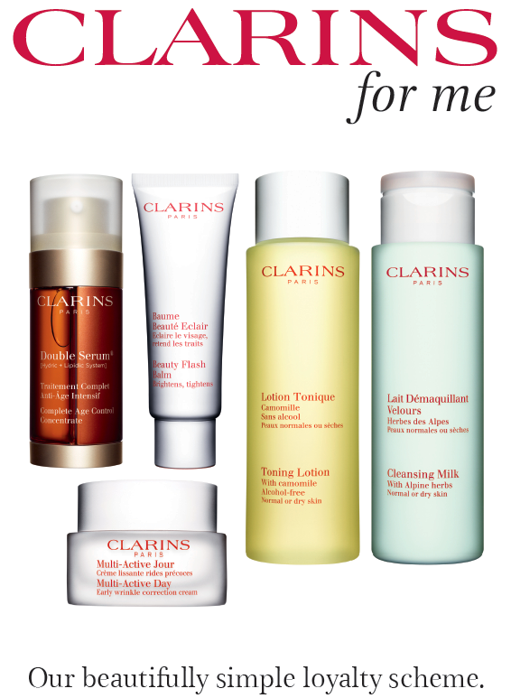 Double clarins points in june margaret balfour clarins for Clarins salon