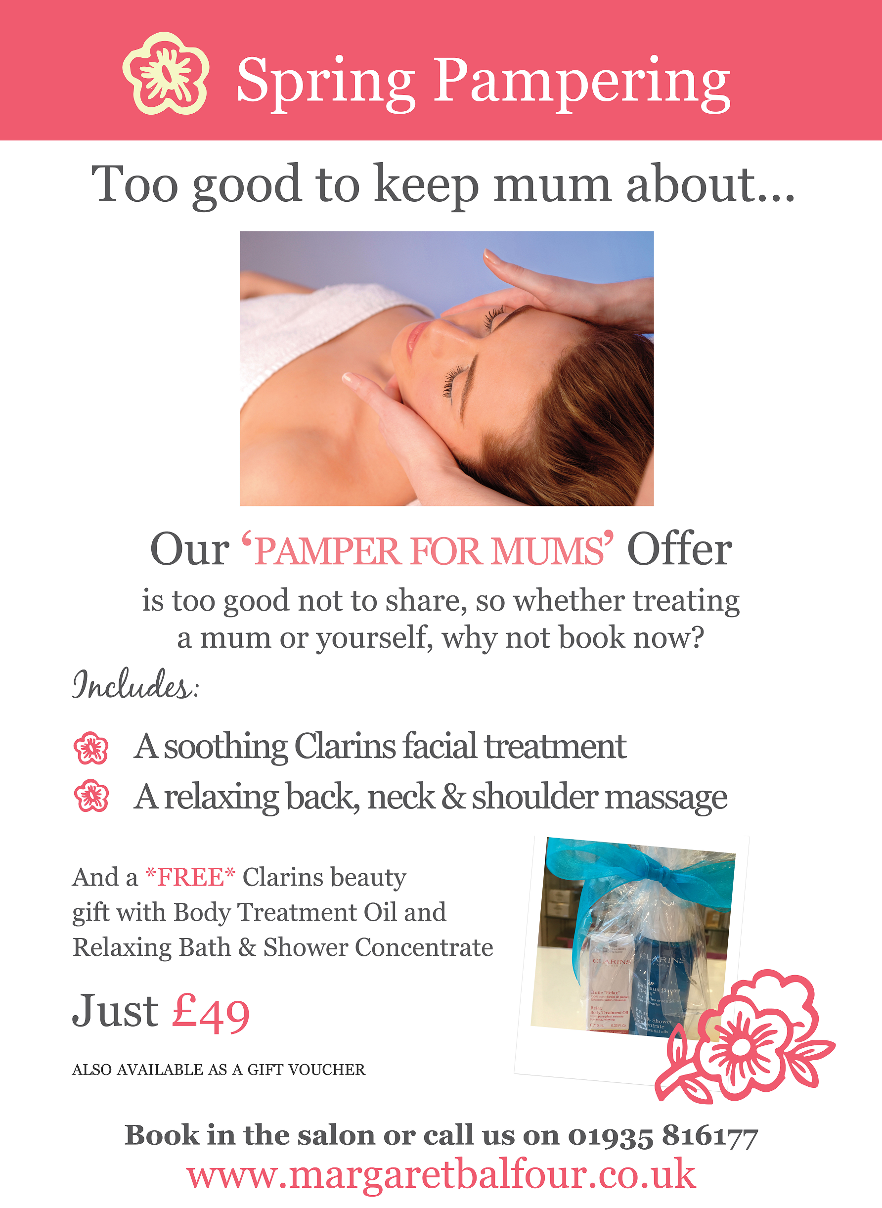 mother s day gift idea margaret balfour clarins beauty salon last minute gift panic