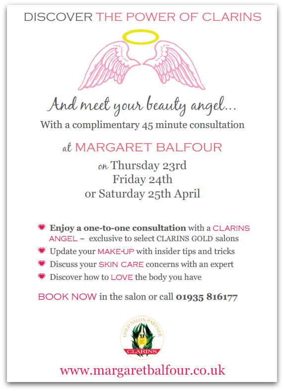 Clarins Angel Event 2015 Margaret Balfour