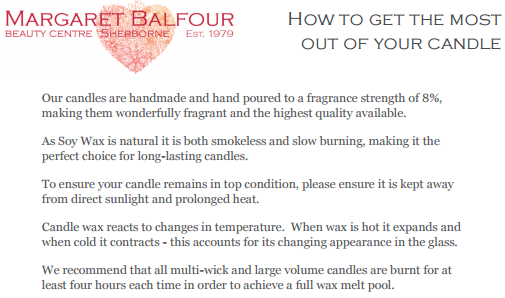 How to get the most out of your candle - no contact panel