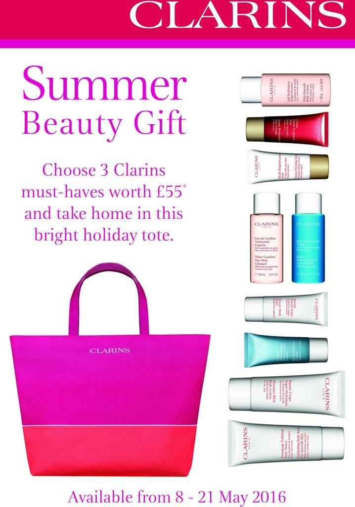 May offer Clarins starts 8 May