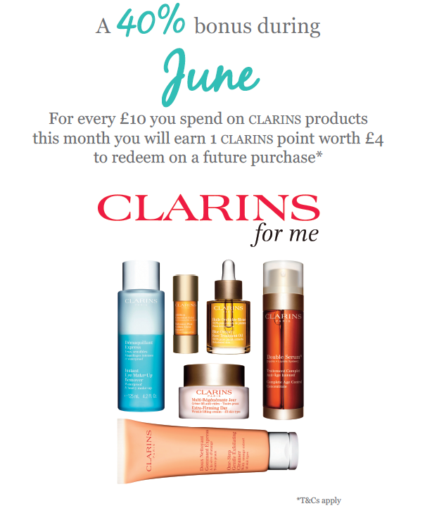 Clarins Double Points June 2016