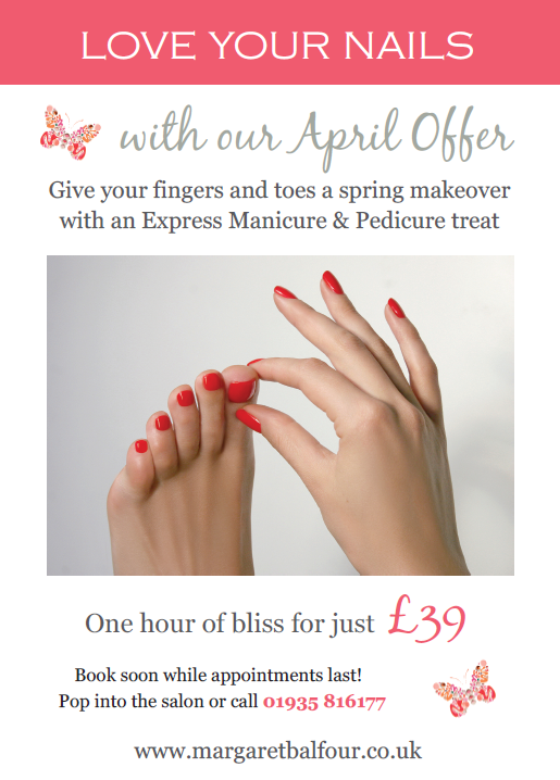 Love your Nails April Offer Margaret Balfour