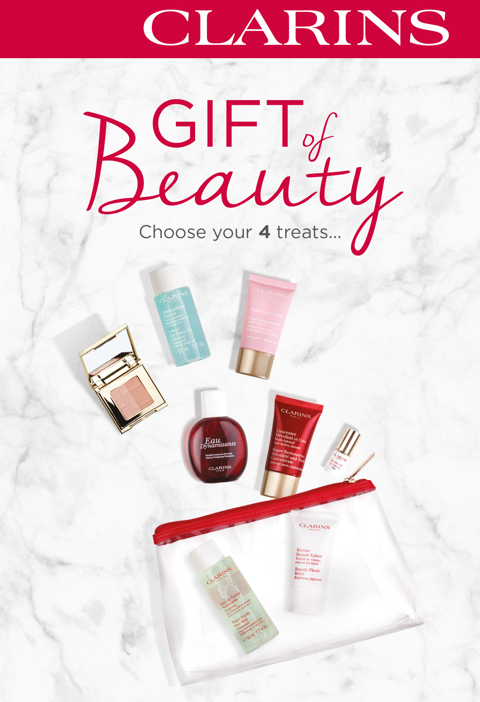 GIFT IDEAS Trust us. You can never go wrong with a Clarins product. SHOP NOW; THE GIFT OF CHOICE The perfect gift is 1 click away. SHOP NOW; Festive flowers Find the perfect gift! DISCOVER.