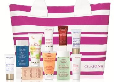 A free Clarins summer travel gift worth £59